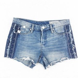 Blank NYC | Distressed Embroidered Hiker Shorts